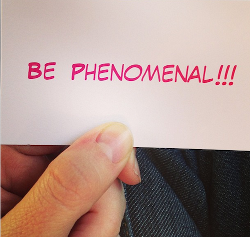 Be phenomenal 2
